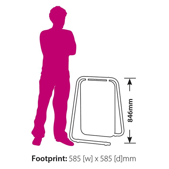 Folding Swing Sign Footprint