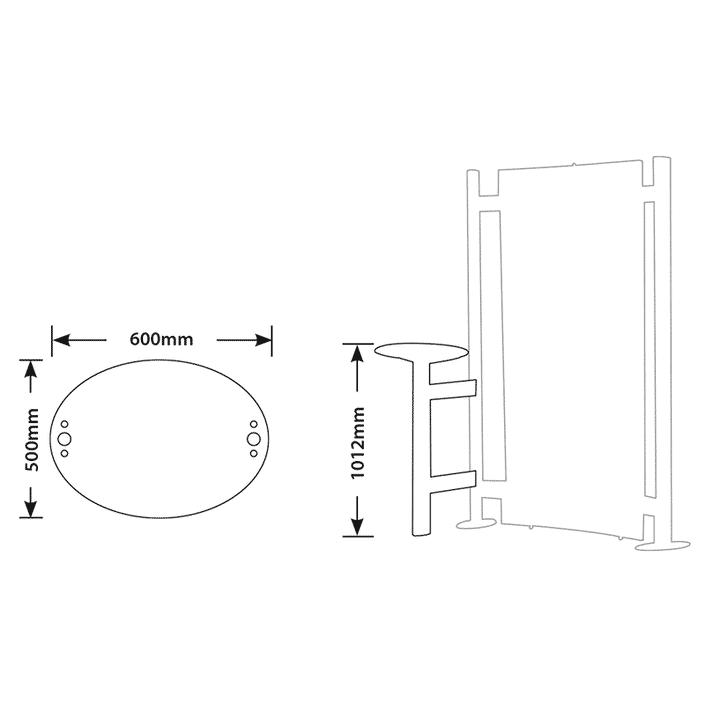 Fusion Versa Table Kit Footprint
