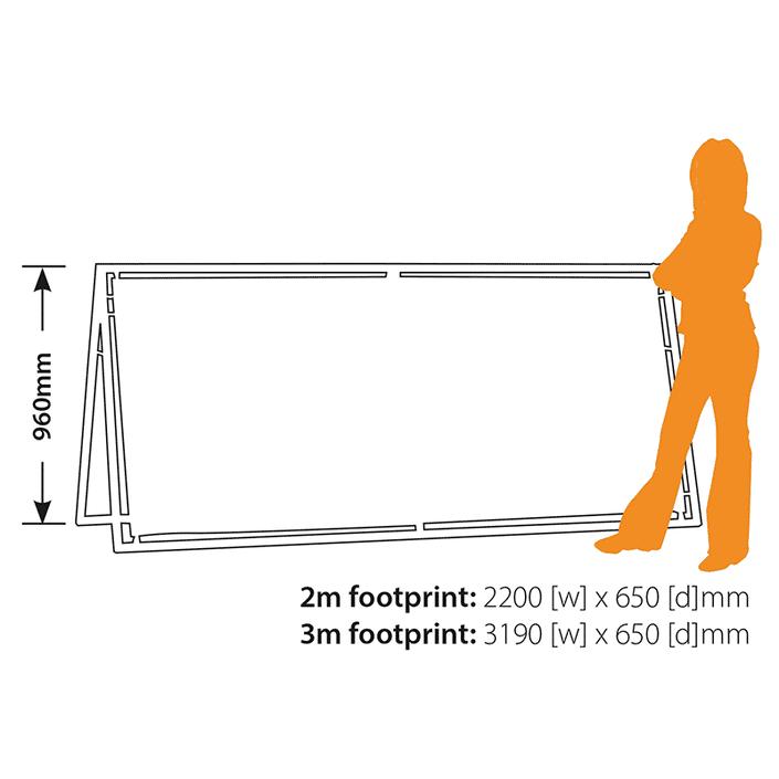 Outdoor A-Banner Footprint