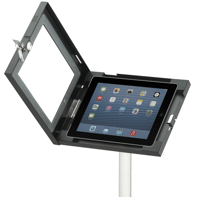 ipad holder enclosure open
