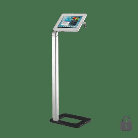 locking universal floorstanding tablet holder
