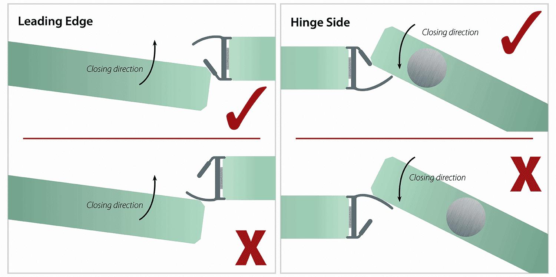illustration de joint de porte