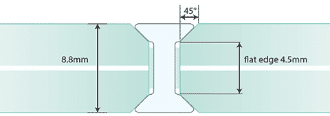 G2G 8mm I Joint - Laminated Glass
