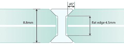 Joint I G2G de 8 mm - Verre laminé