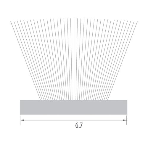 6.7mm Woven Base Pile