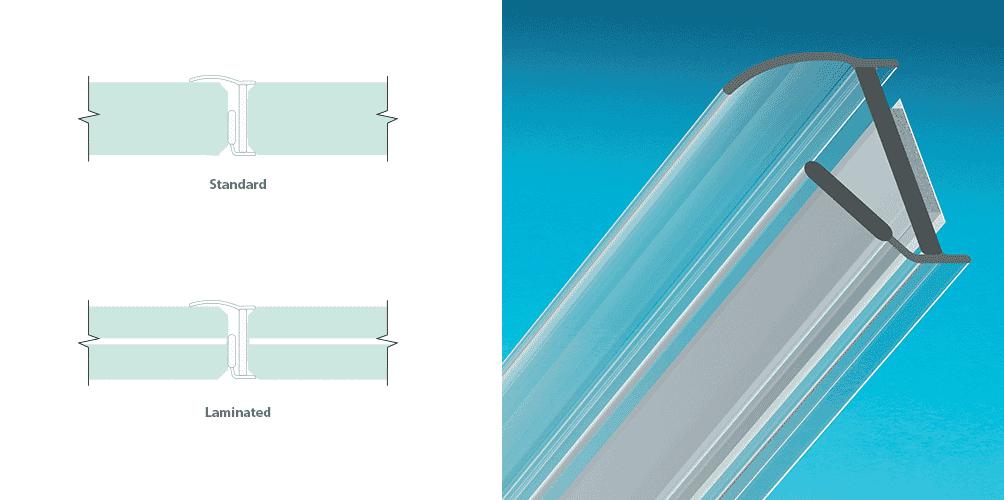Joint latéral pour portes sans encadrement