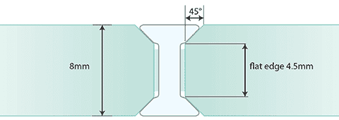 Joint I G2G de 8 mm - Verre standard